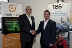 Steve Reynolds of TBS with John Woodward of NeutrinoBI as new partnership is announced