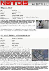 Example of an NATDIS Newswatch mail
