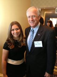 Sarah Hill with Garrison Forest Head of School Peter O'Neill on National Philanthropy Day in Maryland