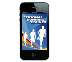 Personal Running Trainer app on smart phone