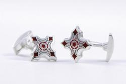 "Zaharoff Ruby-Red ""Guardian Angel"" Cufflinks"