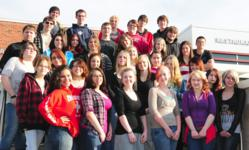 Carbon Career & Technical Institute award winning yearbook staff