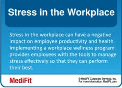 Stress in the Workplace Inforgraphic - MediFit