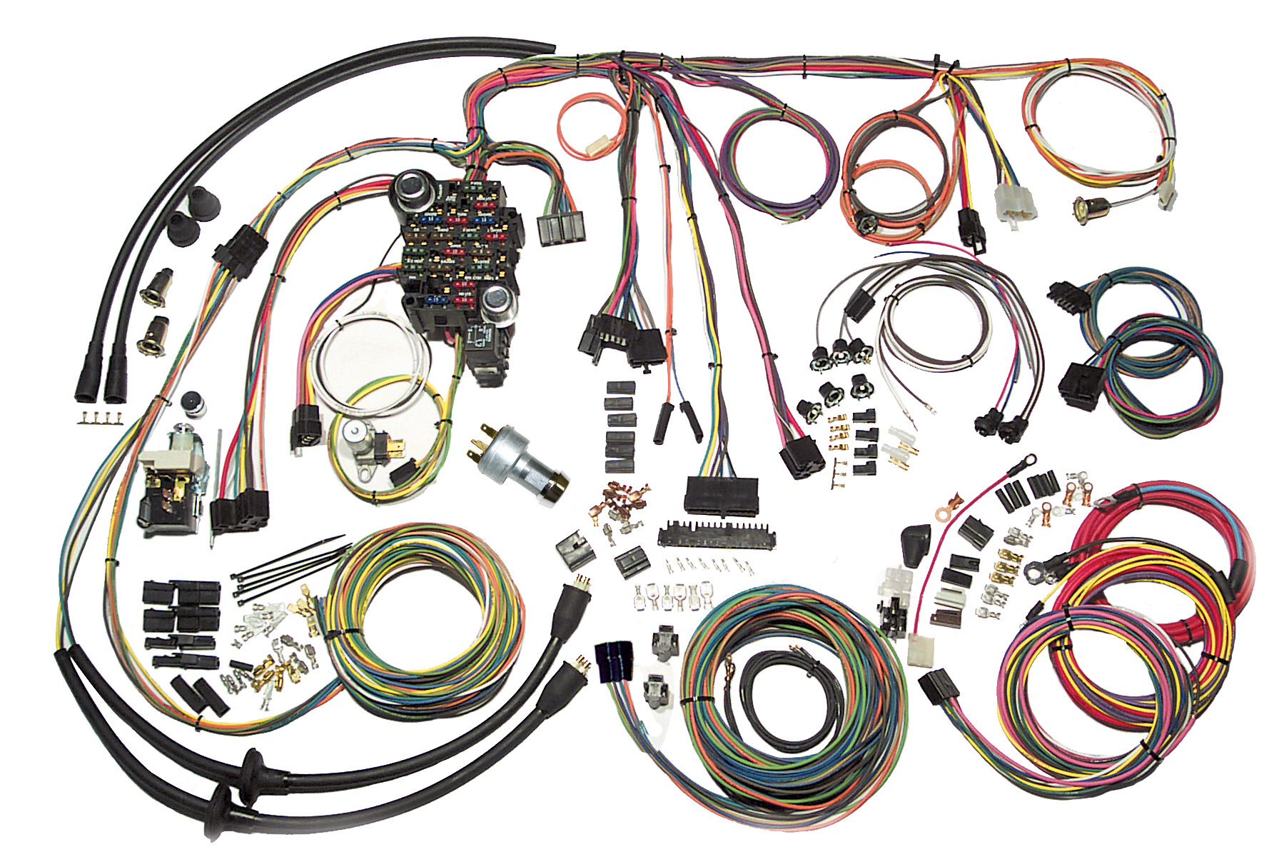 american autowire wiring harnesses now available at summit racing american autowire classic series harness for 1957 chevy