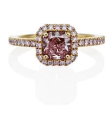 Aura Solitaire Pink Diamond Engagement Ring