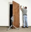 JawStand holds door for installation.