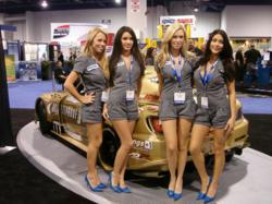 Promo Models at an auto show