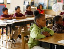 Children in an Oakland Classroom Practicing Mindfulness