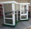 A Venetian Builders, Inc., sales display serves customers shopping for sunroom, patio enclosure or pool enclosure installation at the Home Depot store in Pinecrest, Fla.