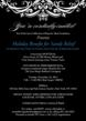 INVITATION - HOLIDAY BENEFIT for SANDY RELIEF