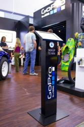 Trade show iPad kiosks from ArmorActive assist GoPro in capturing an immense amount of data.