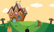 Gingerbread House, gingerbread man, and mistle poo