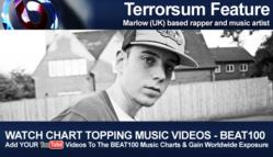 SBTV Rapper, Terrorsum, Uploads His Video, Calling Me Home into the BEAT100 Music Video Chart