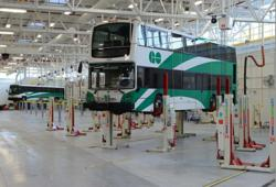 Stertil-Koni Earthlifts and J.A. Becker In-ground piston lifts in GO Transit Facility in Canada