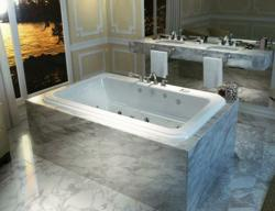 Roman Drop In Tub With Marble Tile Mount From MAAX