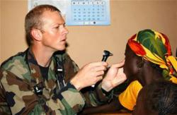 Dr. Shane Dieckman Serves a Patient in Ghana