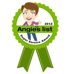 Green House Cleaning Service Better Life Maids has been awarded the coveted Angie's List Super Service Award for 2012