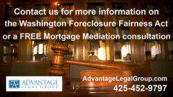 mortgage mediation, Washington Foreclosure Fairness Act, mortgage modification, foreclosure defense