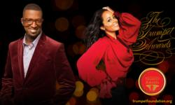 Rickey Smiley and Essence Atkins Co-Hosts of the Trumpet Awards Ceremony