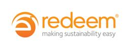 Redeem logo. The company recycles high volumes of electronics and mobile phones for mobile network operators, retailers and large corporates