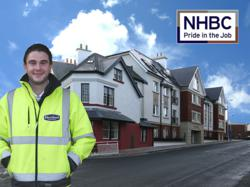 Hartford Homes site manager Dominic McGreevy outside the Royal Buildings in Onchan