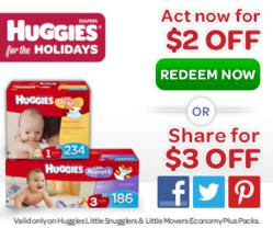 Huggies® For the Holidays $3 Off Diaper Coupon