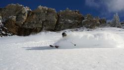 Powder skiing in Alta, UT