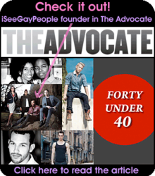 iSeeGayPeople.tv Founder in The Advocate Magazine