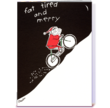 """""""fat tired and merry"""" Card Gnome holiday card designed by Heartstrings Cards"""