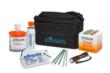 The kit consists of a weather-resistant, soft-sided polyester bag and a variety of cleaning prodcuts.