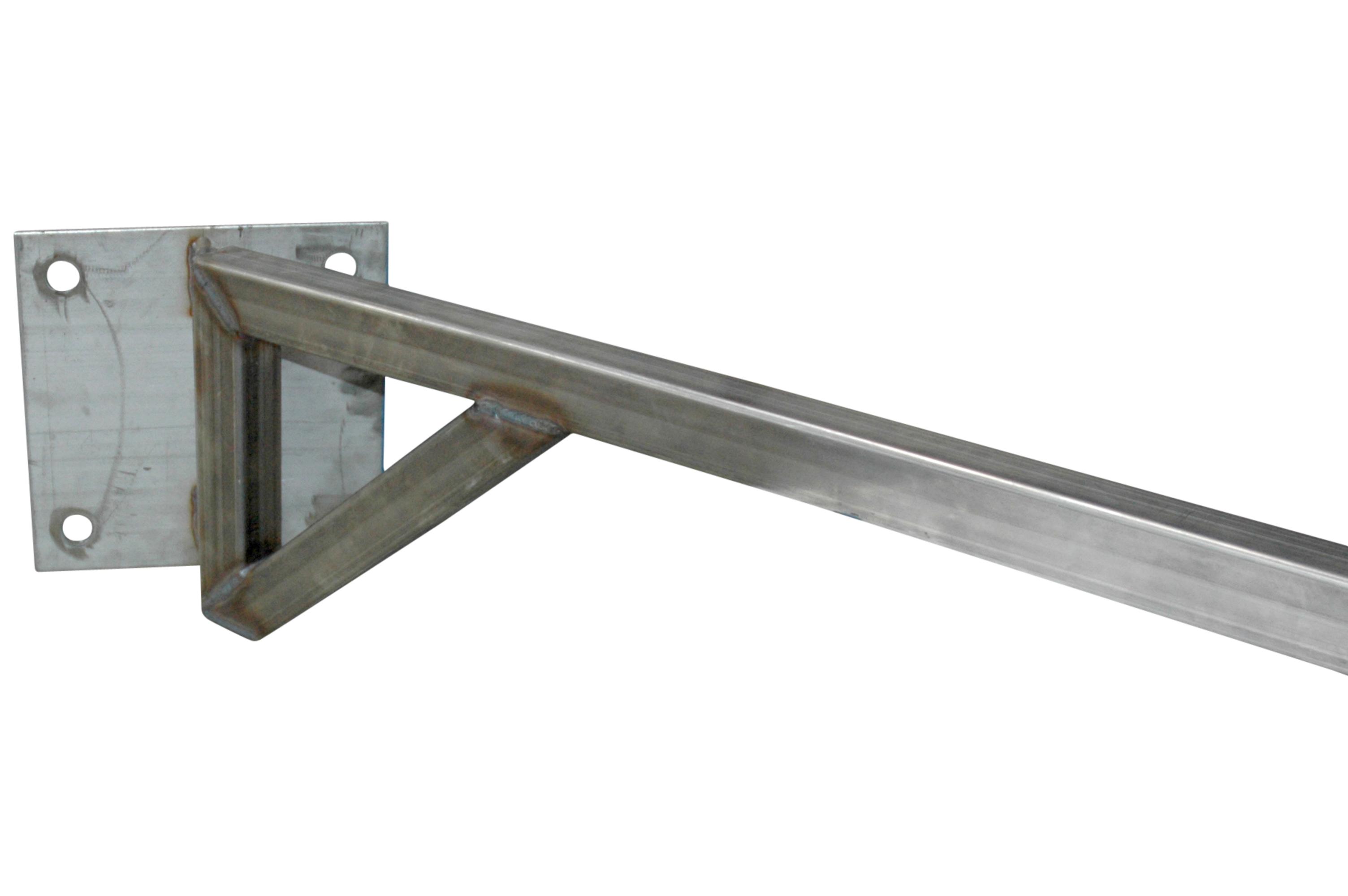 Swinging mounted metal arm