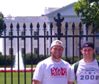 Kirk Cousins and his brother Kyle standing out front the White House