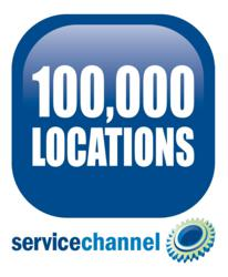 ServiceChannel platform used in over 100,000 locations worldwide.