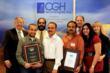 CGH Technologies: Venkat Cheboli, Vinod Vallikat (back row), Marali Gottumukkala, Murali Kuppoor, Glyn Owen  (back row), Keerthi Kongara, Cindy Troutman  (back row)