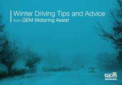 Winter Driving Tips and Advice ebook