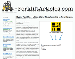 Used Hyster Forklifts For Sale