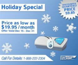 Medical Alert System Holiday Sale from Rescue Alert of California™ Extended
