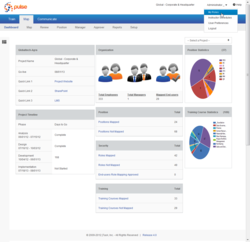 Pulse 4: Map dashboard shows organizational change and project managers the status of role to position mapping and training scheduling