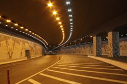 Inside the Zayed Street Tunnel