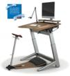 Focal Upright Furniture's lean-to-stand workstation featuring the Locus Seat and Locus Desk