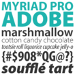 Myriad Pro No. 1 Most Used Web Font