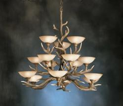 Kichler Lighting 2473BH Buckhorn 15 Light Chandelier $1050.00