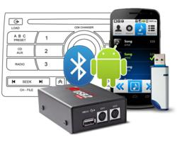 GROM USB, Android, Bluetooth, iPod integration to Factory Car Stereo