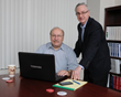 From left are Jim Blair and Marc Kiner of Premier Living Social Security Consulting in Cincinnati. (Paula Norton Photo)
