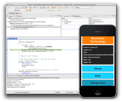 The MoSync IDE now features a fully-featured debugger for JavaScript code.