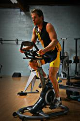 Ironman Jack Nunn training with the Evo Indoor Cycle