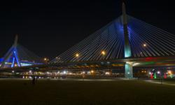Boston's Zakim Bridge New Lighting