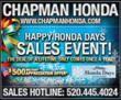 Tucson Honda Shoppers Save Big During the Chapman Honda Holiday Sales Event