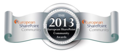 European SharePoint Community Award Winner for Best Search Solution in 2013