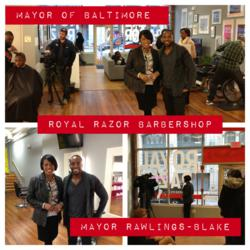Royal Razor Barbershop and Baltimore Mayor Rawlings-Blake